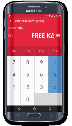 KASA FIK s tiskarnou EET Pokladna Android